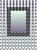 蓝色框架紫罗兰 库存图片
