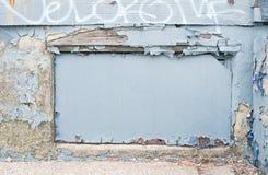 蓝色框架街道画 库存图片