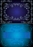 蓝色框架 库存图片