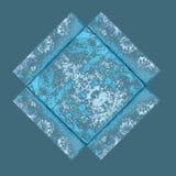 蓝色框架grunge纸张 库存图片