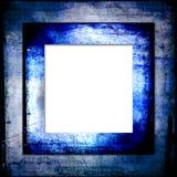 蓝色框架grunge颜色 免版税库存图片