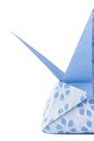 蓝色框origami星形 免版税库存照片