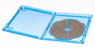 蓝色案件光盘光芒 库存照片