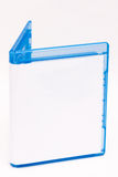蓝色案件光盘空的光芒 库存图片