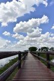 蓝色桥梁天空 免版税库存照片