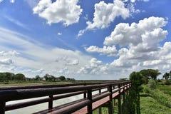 蓝色桥梁天空 库存图片