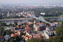 蓝色桥梁德累斯顿 免版税图库摄影