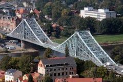 蓝色桥梁德累斯顿 图库摄影