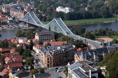 蓝色桥梁德累斯顿 库存照片
