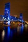蓝色桥梁推力 图库摄影