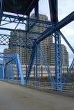 蓝色桥梁-大瀑布城,密执安 免版税库存照片