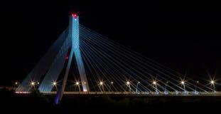 蓝色桥梁 免版税库存照片