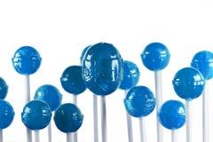 蓝色棒棒糖 免版税库存照片