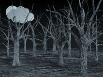 蓝色森林电汇 库存图片