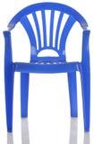 蓝色椅子儿童塑料 库存图片