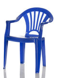 蓝色椅子儿童塑料s 免版税库存照片