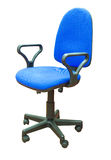 蓝色椅子办公室 免版税库存照片