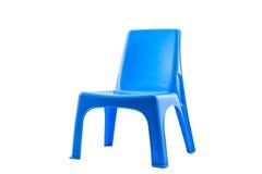 蓝色椅子塑料 免版税库存照片