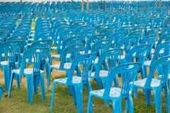 蓝色椅子 免版税库存照片