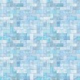 蓝色楼层模式无缝的石头 库存照片