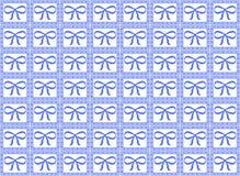 蓝色模式丝带 库存照片