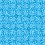蓝色模式无缝的墙纸 免版税库存照片