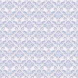 蓝色模式无缝的葡萄酒墙纸 免版税库存照片
