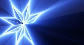 蓝色模式星形 库存图片