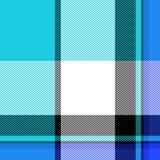 蓝色模式格子花呢披肩 库存照片