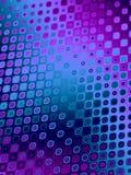 蓝色模式紫色减速火箭 库存例证