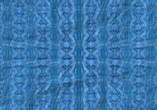 蓝色模式辐形 免版税库存照片