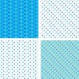蓝色模式pois无缝的白色 库存图片