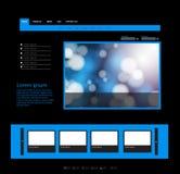 蓝色模板网站 免版税库存照片