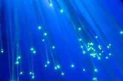 蓝色模糊的纤维光学 免版税库存图片