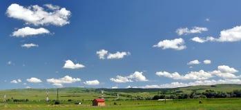 蓝色横向天空 免版税库存图片