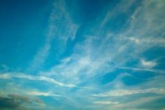 蓝色横向天空 免版税库存照片