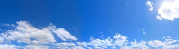 蓝色横向天空 免版税图库摄影