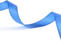 蓝色横穿丝带 库存照片