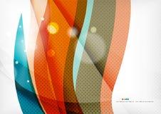 蓝色橙色线概念 免版税图库摄影