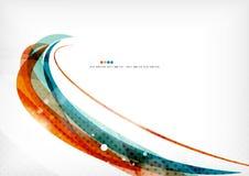 蓝色橙色线概念 库存图片