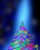 蓝色欢乐圣诞节典雅的抽象背景五颜六色的boke 向量例证