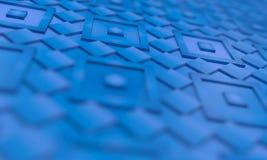 蓝色正方形-抽象背景 库存图片