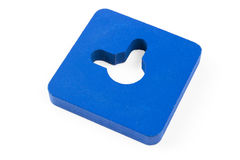 蓝色正方形 免版税库存照片