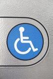 蓝色残疾符号 图库摄影