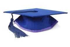 蓝色毕业灰浆板 图库摄影