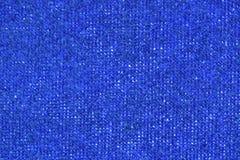 蓝色毛巾织品纹理和背景 库存照片