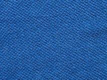 蓝色毛巾背景 免版税图库摄影