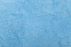 蓝色毛巾背景 库存照片