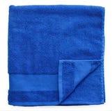 蓝色毛巾 免版税库存图片