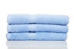 蓝色毛巾 库存照片